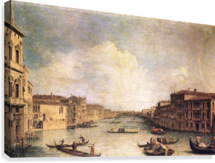 Grand Canal -1- by Canaletto  Canvas Print
